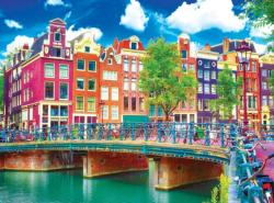 Colorful Waterfront Buildings, Amsterdam Amsterdam Jigsaw Puzzle