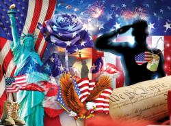 Heart of Heros Statue of Liberty Jigsaw Puzzle