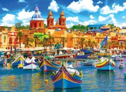 Traditional Boats in the Mediterranen Boats Jigsaw Puzzle