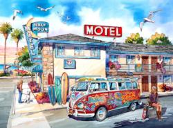 Half Moon Motel California Nostalgic / Retro Jigsaw Puzzle