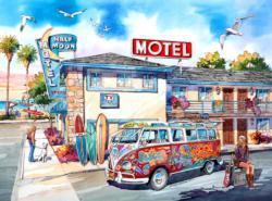 Half Moon Motel California Nostalgic / Retro Jigsaw Puzzle