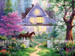 Victorian Evening Cottage / Cabin Jigsaw Puzzle