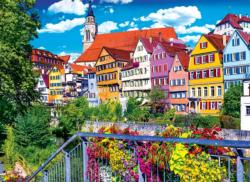 Floral Colorful Town, Tubingen Germany Germany Jigsaw Puzzle