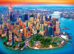 Aerial View of Manhattan NYC New York Jigsaw Puzzle