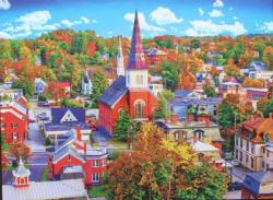 Montpelier, Vermont, Townscape - Scratch and Dent Cities Jigsaw Puzzle