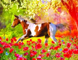 Meadow Run Horses Jigsaw Puzzle