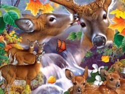Deer Collage Animals Jigsaw Puzzle