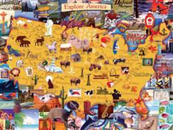 Explore America United States Jigsaw Puzzle