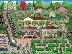 Botancial Garden Flower Show Garden Jigsaw Puzzle