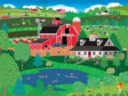 Apple Pond Spring Farm Jigsaw Puzzle