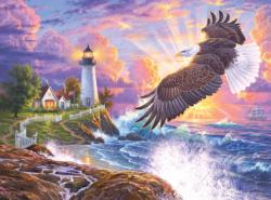 The Guiding Light - Scratch and Dent Eagles Jigsaw Puzzle