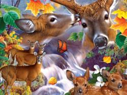 Deer Collage Nature Jigsaw Puzzle