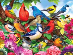 Friendly Birds Flowers Jigsaw Puzzle