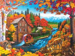 Autumn Mill Landscape Jigsaw Puzzle