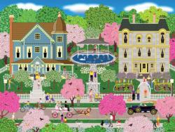 Victorian Town Nature Large Piece