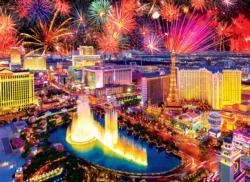 Fireworks Over Las Vegas Las Vegas Jigsaw Puzzle