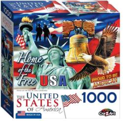 Home Of The Free United States Jigsaw Puzzle