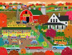 Autumn Harvest Landscape Jigsaw Puzzle