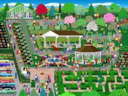 Botanical Garden Flower Show Garden Jigsaw Puzzle