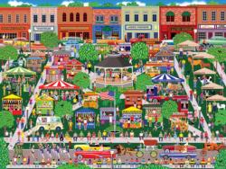 Small Town Big Summer Fair Outdoors Jigsaw Puzzle