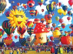 Happy Hot Air Balloons Albuquerque New Mexico Balloons Jigsaw Puzzle