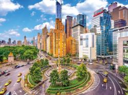 Columbus Circle New York City New York Jigsaw Puzzle