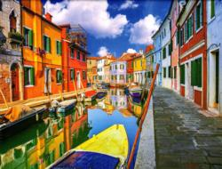 The Colorful Houses of Burano Venice Italy Italy Jigsaw Puzzle
