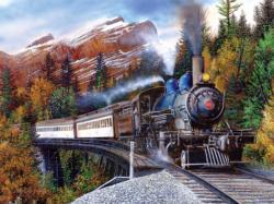 Autumn Express Landscape Jigsaw Puzzle