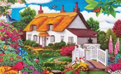 Summer Garden Cottage Cottage / Cabin Jigsaw Puzzle