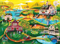 Red Barn Hill Golf Resort Sports Jigsaw Puzzle