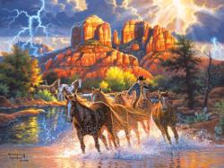 Mountain Horses - Scratch and Dent Nature Jigsaw Puzzle