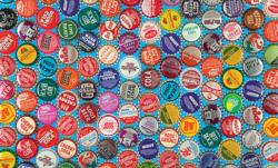Collectible Vintage Soda Bottle Caps Family Fun Jigsaw Puzzle