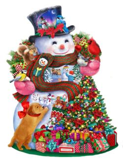 Happy Snowman Christmas Jigsaw Puzzle