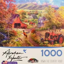 Down The Country Road Landscape Jigsaw Puzzle