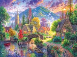 Mountain Village Lakes / Rivers / Streams Jigsaw Puzzle
