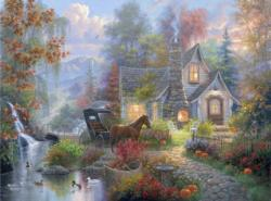 Fairytale Cottage Cottage / Cabin Jigsaw Puzzle