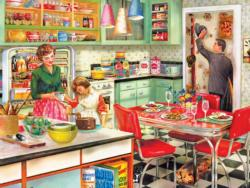 Baking With Mom Domestic Scene Jigsaw Puzzle
