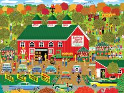 Bobbing Apple Orchard Farm Fall Jigsaw Puzzle