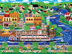 Lady of the River Americana & Folk Art Jigsaw Puzzle
