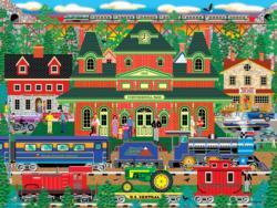 Mountain Rail Holiday Trains Jigsaw Puzzle