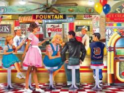 Soda & Ice Cream Parlor Nostalgic / Retro Jigsaw Puzzle