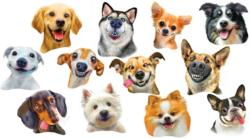 Dog Selfies Dogs Jigsaw Puzzle