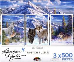 Wolf Mountain Snow Jigsaw Puzzle