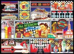 50's Retro Collage Collage Jigsaw Puzzle
