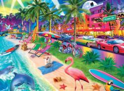 South Beach Seascape / Coastal Living Jigsaw Puzzle