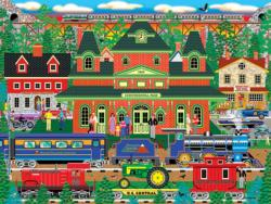 Mountain Rail Holiday Landscape Jigsaw Puzzle