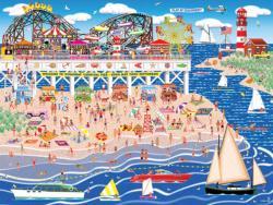 Oceanbay Carnival Pier Seascape / Coastal Living Jigsaw Puzzle