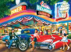 Rollerskate Drive-in Theatre - Scratch and Dent Nostalgic / Retro Jigsaw Puzzle