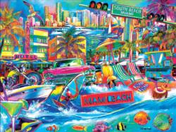 I Heart South Beach Beach Jigsaw Puzzle