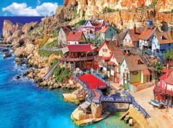 Popeye Village, Malta Seascape / Coastal Living Jigsaw Puzzle